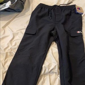 Black champion cargo pants; I accept offers